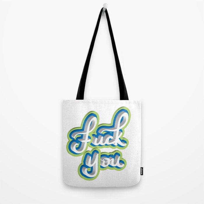 Adult Swear Word Tote Bag