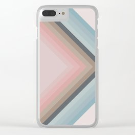 Pastel Pyramids Clear iPhone Case