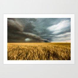 Earth Mover - Storm Advances Across Great Plains in Colorado Art Print