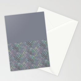 Gray combined pattern. Stationery Cards