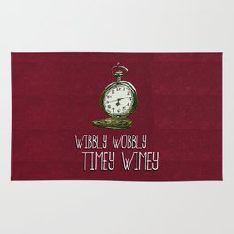 Doctor Who: Time is Wibbly Wobbly Timey Wimey Rug