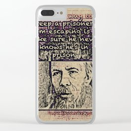 Dostoevsky Clear iPhone Case