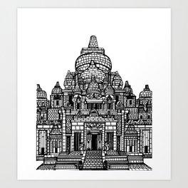 Candi Sewu Art Print