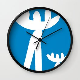 Minimal art Father and son Wall Clock