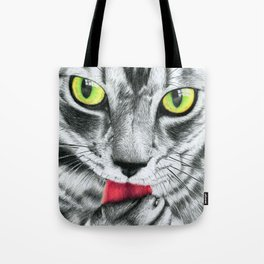 Golden Eyed Kitty Tote Bag