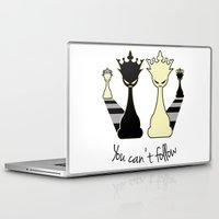 feminism Laptop & iPad Skins featuring Chess Game Women Power - Feminism by La Gata Venenosa