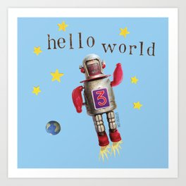 Hello world! Art Print