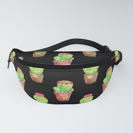 Watercolor Cactus Pattern Fanny Pack