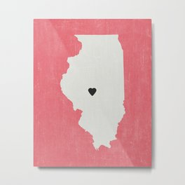 Illinois Love Metal Print