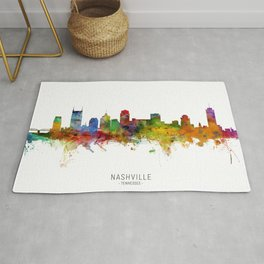 Nashville Tennessee Skyline Rug