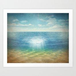 Insta Beach Art Print
