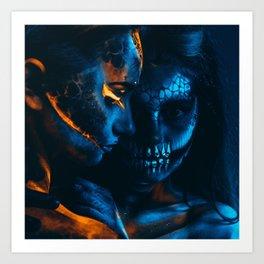 Look Like Zombie Girls, UV Colors Art Print