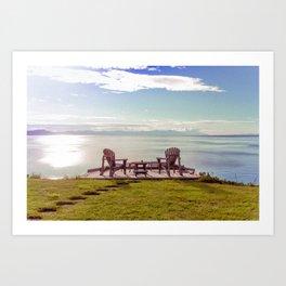 Open Chairs Art Print