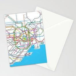 Tokyo Subway map Stationery Cards