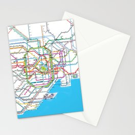 Tokyo Subway map Stationery Cards