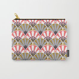 feather plume art deco fan Carry-All Pouch