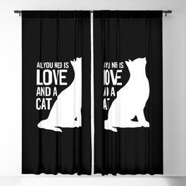 All You Need is Love and a Cat Blackout Curtain