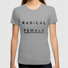 Radical Female X-LARGE Womens Fitted Tee Tri-Grey