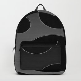Contemporary Circle Silver and Black Backpack