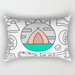 Hiking and Camping Supplies Rectangular Pillow