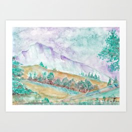 Early spring in the mountains Art Print