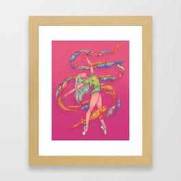 DANSEUSE AUX CERFS-VOLANTS Framed Art Print