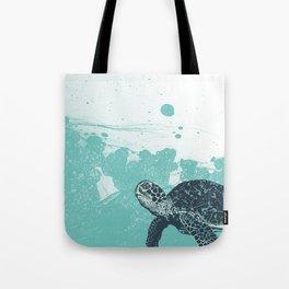 Sea Foam Sea Turtle Tote Bag