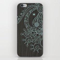 Tangle on dark wood iPhone & iPod Skin