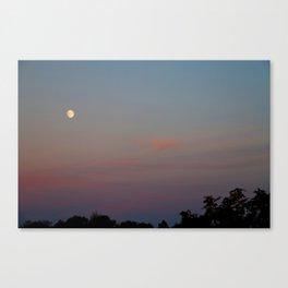 Moon Colors Canvas Print