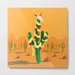 Merry Cactus Metal Print