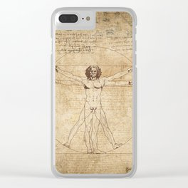 Vitruvian Man Clear iPhone Case