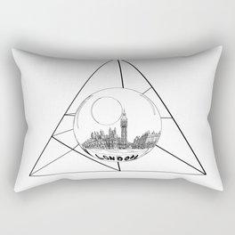 Graphic . geometric shape gray London in a bottle Rectangular Pillow