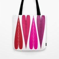 swedish Tote Bags featuring Swedish Valentines by KatieKatherine