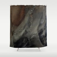 imagerybydianna Shower Curtains featuring melusine, pause before flight by Imagery by dianna