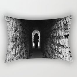 The Silhouette at the End of the Tunnel Rectangular Pillow