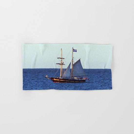 Quebec Sailboat Hand & Bath Towel