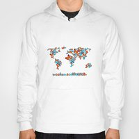map Hoodies featuring map  by mark ashkenazi
