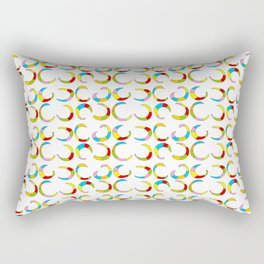 Multicolor moons-abstraction,abstract,geometric,geometrical,pattern,circle,sphere Rectangular Pillow