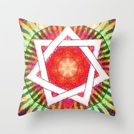 Septagram - Star Of Love I Throw Pillow