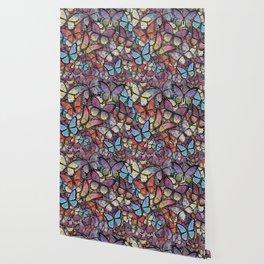 butterflies aflutter colorful version Wallpaper