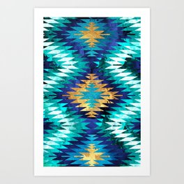 Inverted Navajo Suns Art Print