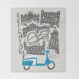 Brighton Cityscape Throw Blanket