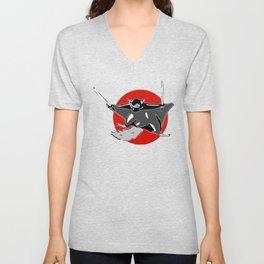 Flying (ninja) Squirrel Unisex V-Neck