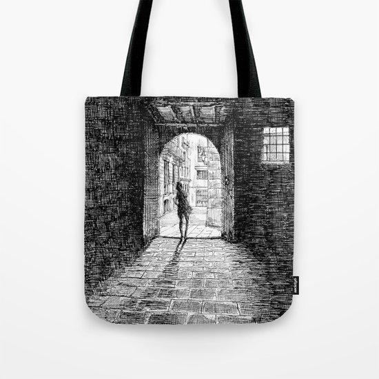 Light - Black ink Tote Bag