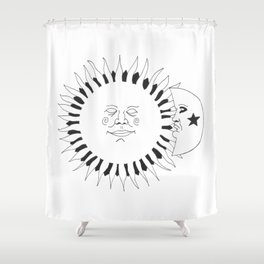 Celestial buddies: They're like night & day Shower Curtain