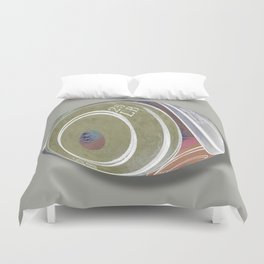 Weight Plates Orb Duvet Cover