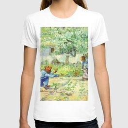 First Steps, after Millet (1890) by Vincent Van Gogh T-shirt