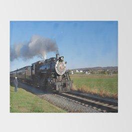 Steam Locomotive Throw Blanket