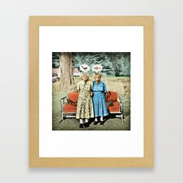 Two Cool Kitties: What's for Lunch? Framed Art Print