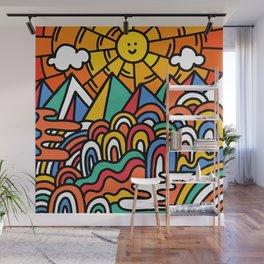 Shiny happy land Wall Mural